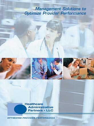 Cover of Healthcare Administative Partners Folder/Brochure